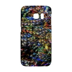Multi Color Peacock Feathers Galaxy S6 Edge by Simbadda