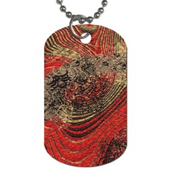 Red Gold Black Background Dog Tag (two Sides)