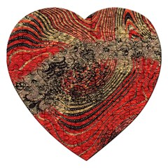 Red Gold Black Background Jigsaw Puzzle (heart)
