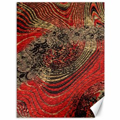 Red Gold Black Background Canvas 36  X 48   by Simbadda