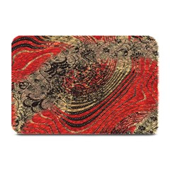 Red Gold Black Background Plate Mats