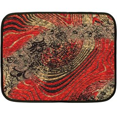 Red Gold Black Background Double Sided Fleece Blanket (mini)