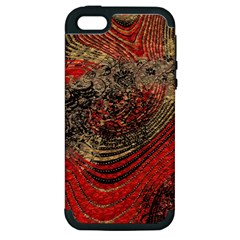 Red Gold Black Background Apple Iphone 5 Hardshell Case (pc+silicone)