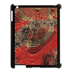 Red Gold Black Background Apple Ipad 3/4 Case (black) by Simbadda