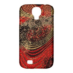Red Gold Black Background Samsung Galaxy S4 Classic Hardshell Case (pc+silicone) by Simbadda