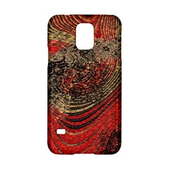 Red Gold Black Background Samsung Galaxy S5 Hardshell Case  by Simbadda