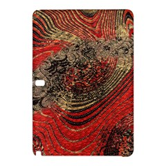 Red Gold Black Background Samsung Galaxy Tab Pro 10 1 Hardshell Case by Simbadda
