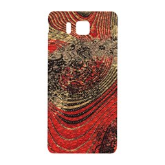 Red Gold Black Background Samsung Galaxy Alpha Hardshell Back Case by Simbadda