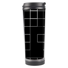 Abstract Clutter Travel Tumbler by Simbadda