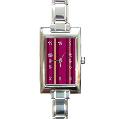 Stripes Background Wallpaper In Purple Maroon And Gold Rectangle Italian Charm Watch by Simbadda