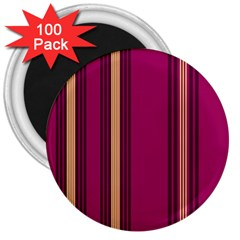 Stripes Background Wallpaper In Purple Maroon And Gold 3  Magnets (100 Pack)