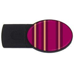 Stripes Background Wallpaper In Purple Maroon And Gold Usb Flash Drive Oval (4 Gb) by Simbadda