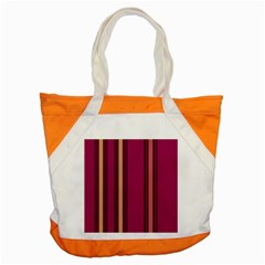 Stripes Background Wallpaper In Purple Maroon And Gold Accent Tote Bag by Simbadda