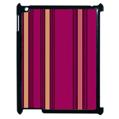 Stripes Background Wallpaper In Purple Maroon And Gold Apple Ipad 2 Case (black)