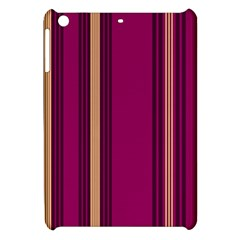 Stripes Background Wallpaper In Purple Maroon And Gold Apple Ipad Mini Hardshell Case