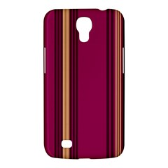 Stripes Background Wallpaper In Purple Maroon And Gold Samsung Galaxy Mega 6 3  I9200 Hardshell Case by Simbadda