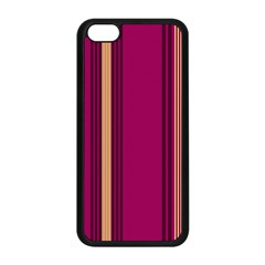 Stripes Background Wallpaper In Purple Maroon And Gold Apple Iphone 5c Seamless Case (black) by Simbadda