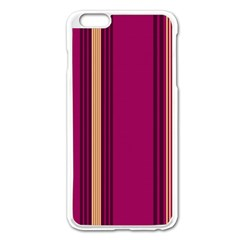 Stripes Background Wallpaper In Purple Maroon And Gold Apple Iphone 6 Plus/6s Plus Enamel White Case