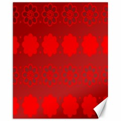 Red Flowers Velvet Flower Pattern Canvas 16  X 20   by Simbadda