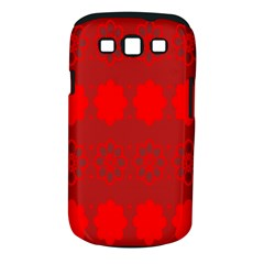 Red Flowers Velvet Flower Pattern Samsung Galaxy S III Classic Hardshell Case (PC+Silicone)