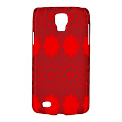 Red Flowers Velvet Flower Pattern Galaxy S4 Active