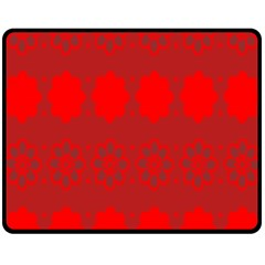 Red Flowers Velvet Flower Pattern Double Sided Fleece Blanket (medium)  by Simbadda