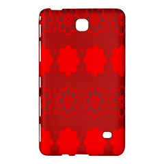 Red Flowers Velvet Flower Pattern Samsung Galaxy Tab 4 (7 ) Hardshell Case