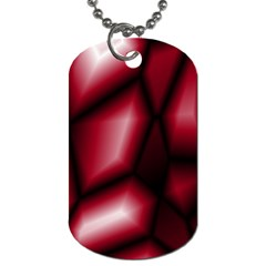 Red Abstract Background Dog Tag (one Side)