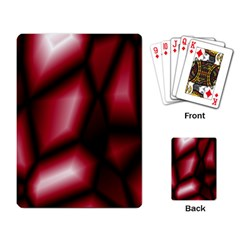 Red Abstract Background Playing Card by Simbadda