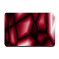 Red Abstract Background Small Doormat  by Simbadda