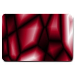 Red Abstract Background Large Doormat  by Simbadda