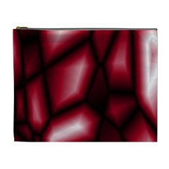 Red Abstract Background Cosmetic Bag (xl)