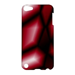 Red Abstract Background Apple Ipod Touch 5 Hardshell Case by Simbadda