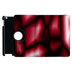 Red Abstract Background Apple Ipad 2 Flip 360 Case