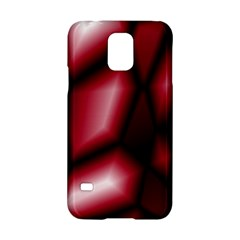 Red Abstract Background Samsung Galaxy S5 Hardshell Case  by Simbadda