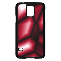 Red Abstract Background Samsung Galaxy S5 Case (black) by Simbadda