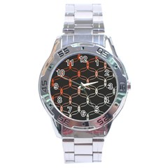 Cadenas Chinas Abstract Design Pattern Stainless Steel Analogue Watch by Simbadda