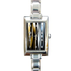 Digitally Created Striped Abstract Background Texture Rectangle Italian Charm Watch
