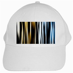 Digitally Created Striped Abstract Background Texture White Cap