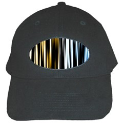 Digitally Created Striped Abstract Background Texture Black Cap