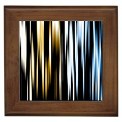 Digitally Created Striped Abstract Background Texture Framed Tiles