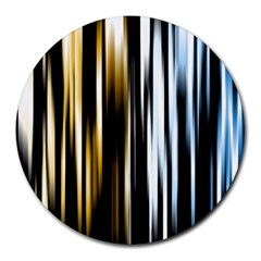 Digitally Created Striped Abstract Background Texture Round Mousepads