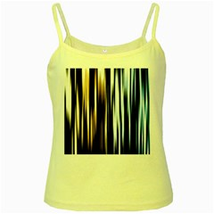 Digitally Created Striped Abstract Background Texture Yellow Spaghetti Tank