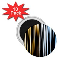Digitally Created Striped Abstract Background Texture 1.75  Magnets (10 pack)