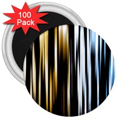 Digitally Created Striped Abstract Background Texture 3  Magnets (100 pack)