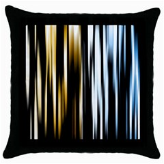 Digitally Created Striped Abstract Background Texture Throw Pillow Case (Black)