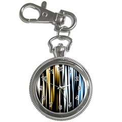 Digitally Created Striped Abstract Background Texture Key Chain Watches