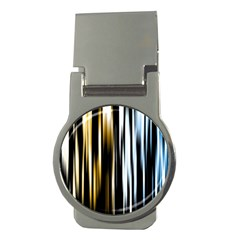 Digitally Created Striped Abstract Background Texture Money Clips (Round)