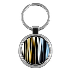 Digitally Created Striped Abstract Background Texture Key Chains (Round)