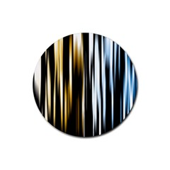 Digitally Created Striped Abstract Background Texture Rubber Coaster (Round)